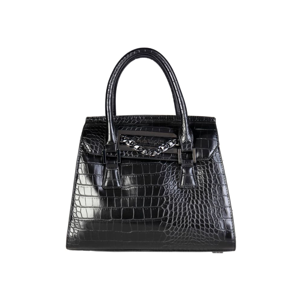 Laura Biagiotti Polish Finish Handbag - Black / Nosize - Bags Handbags