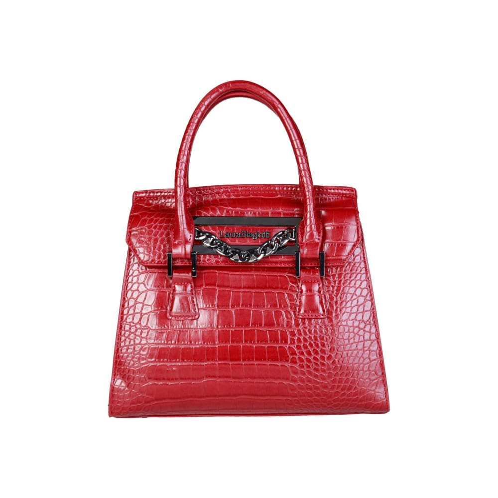 Laura Biagiotti Polish Finish Handbag - Red / Nosize - Bags Handbags
