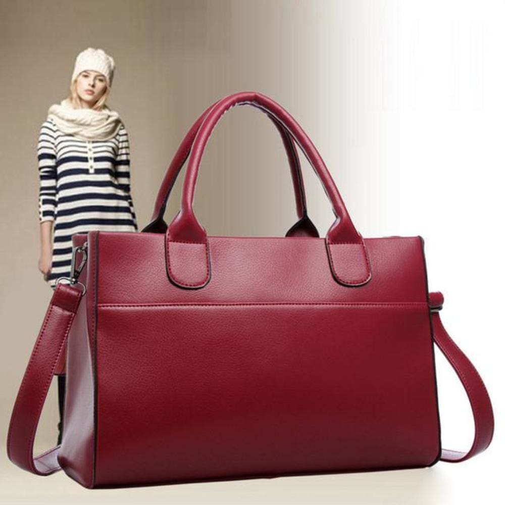 Lili Barcelona Baguette Bag - Red - Hand Bags