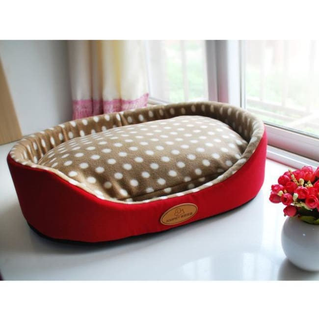 Luxury Dog & Cat Bed - Red / S 35X30Cm - Dog Bed