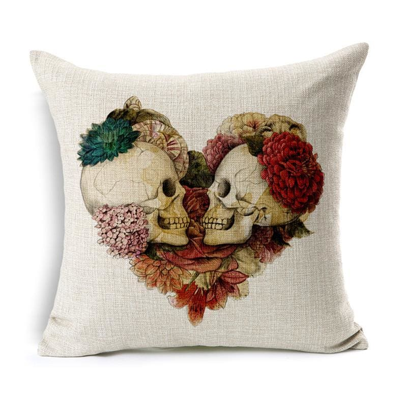 Mexican Sugar Skull Cushion Cover - 1 / 43X43Cm - Cushion