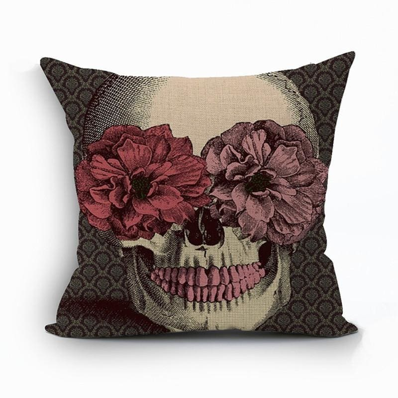 Mexican Sugar Skull Cushion Cover - 10 / 43X43Cm - Cushion