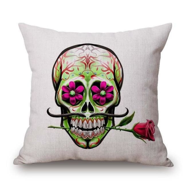 Mexican Sugar Skull Cushion Cover - 13 / 43X43Cm - Cushion