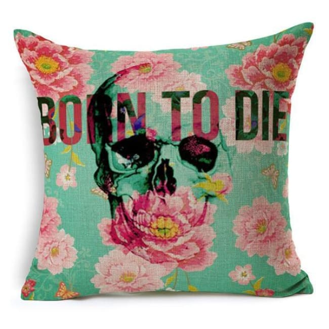 Mexican Sugar Skull Cushion Cover - 16 / 43X43Cm - Cushion
