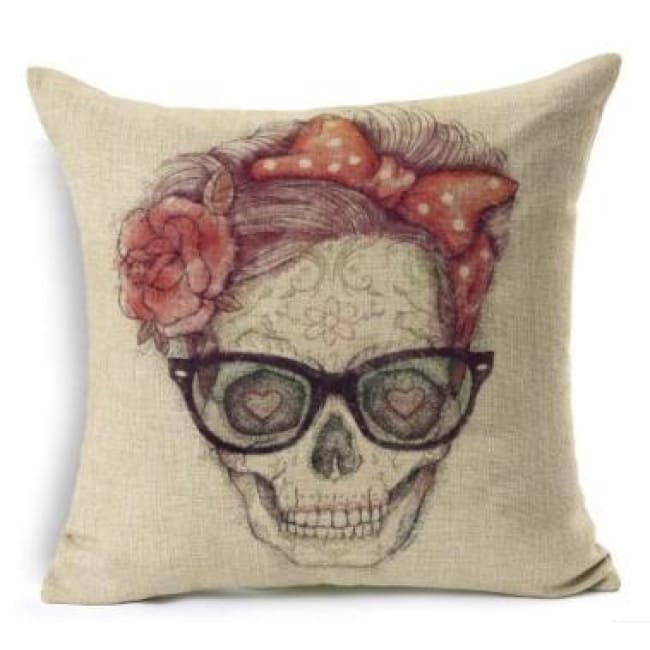 Mexican Sugar Skull Cushion Cover - 24 / 43X43Cm - Cushion