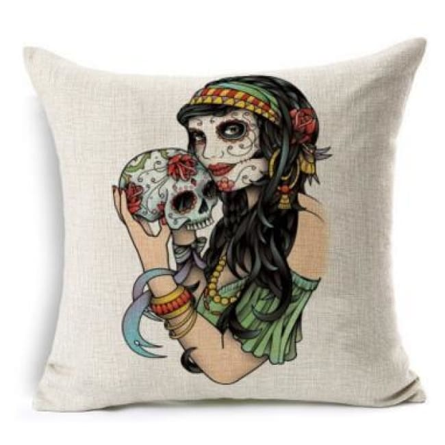 Mexican Sugar Skull Cushion Cover - 4 / 43X43Cm - Cushion
