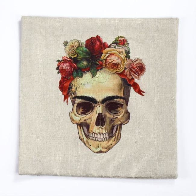 Mexican Sugar Skull Cushion Cover - 6 / 43X43Cm - Cushion