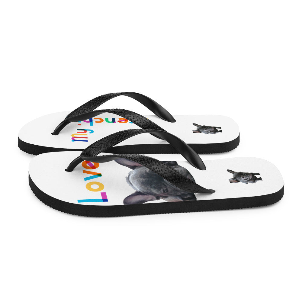 Frenchi Print Flipflop - side view 2