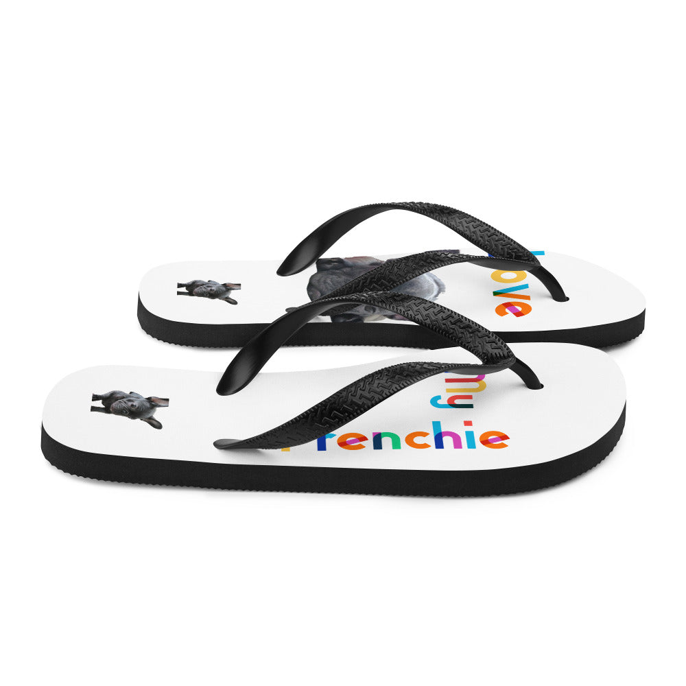 Frenchi Print Flipflop - side view