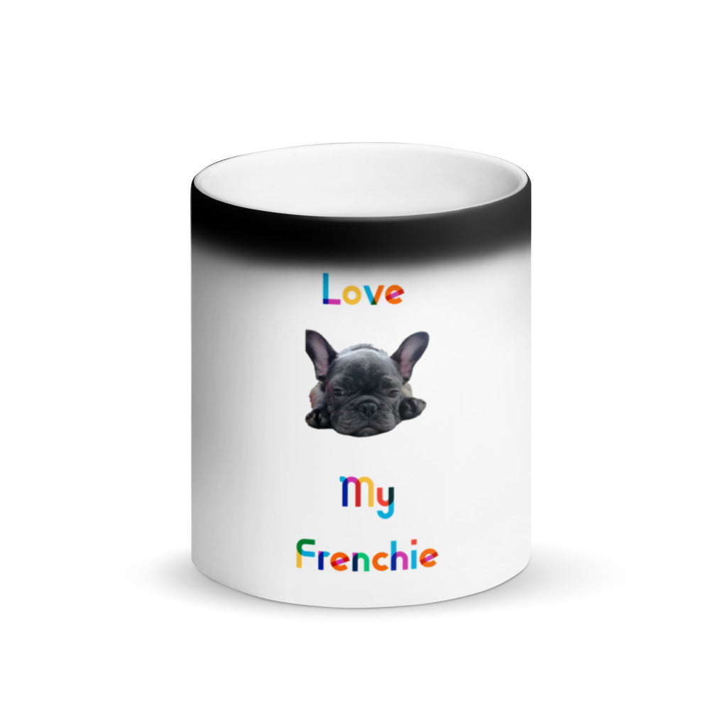 French bulldog print mug