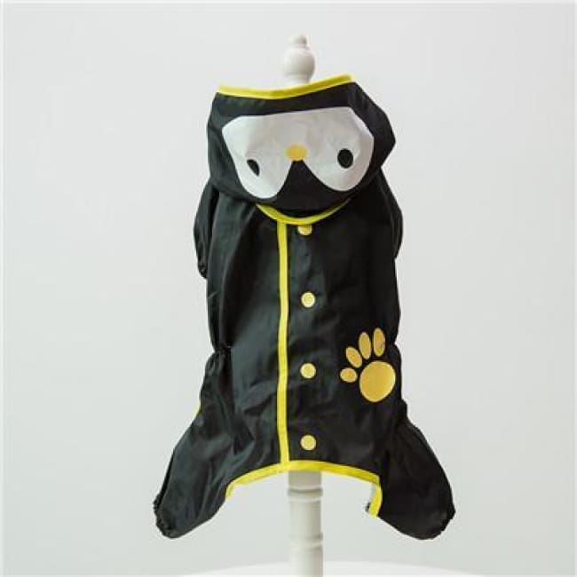 My Little Ninja Dog Raincoat - Black Penguin / S (Chest 42Cm) - Dog Clothes