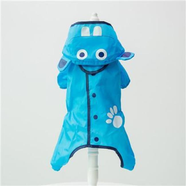 My Little Ninja Dog Raincoat - Blue Hippo / S (Chest 42Cm) - Dog Clothes