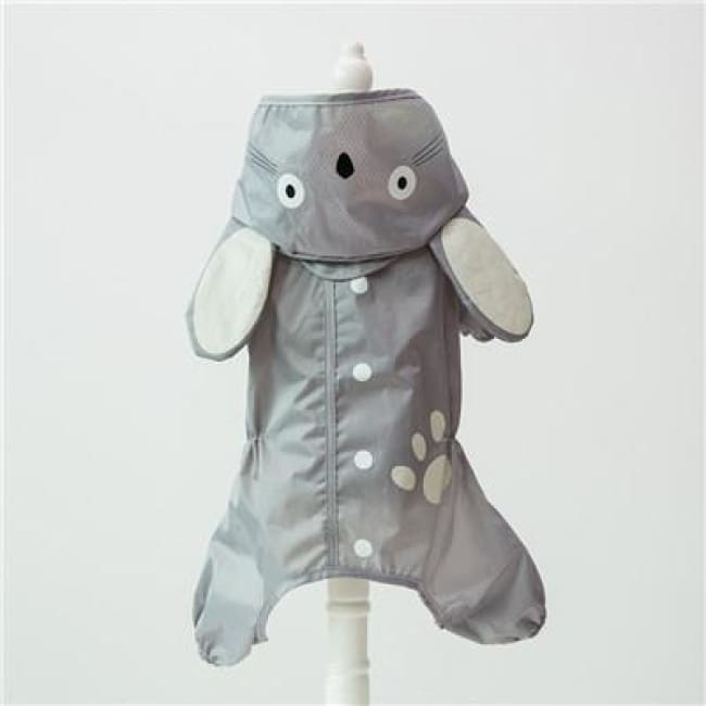 My Little Ninja Dog Raincoat - Gray Cat / S (Chest 42Cm) - Dog Clothes
