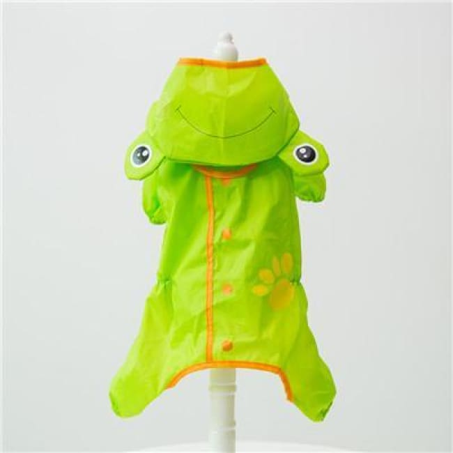My Little Ninja Dog Raincoat - Green Frog / S (Chest 42Cm) - Dog Clothes