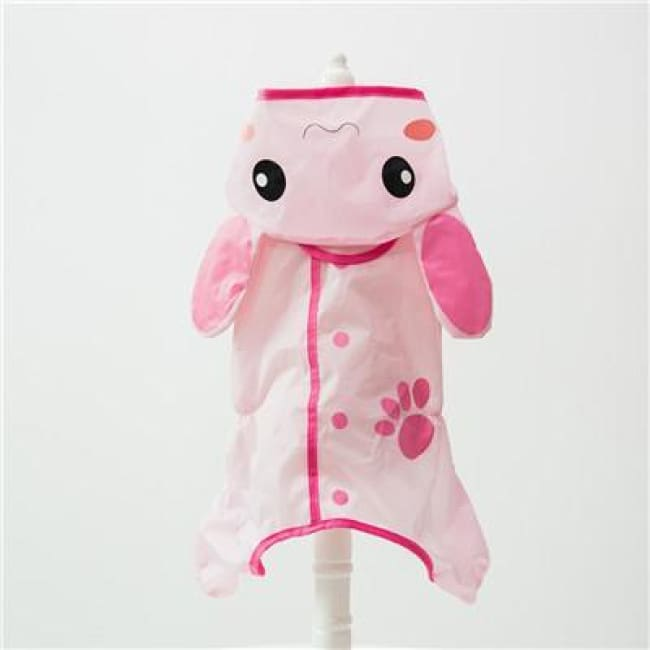 My Little Ninja Dog Raincoat - Pink Rabbit / S (Chest 42Cm) - Dog Clothes