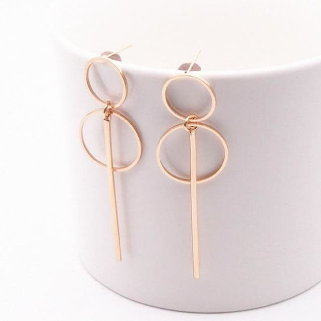 Nikki Fashion Earrings Gold Silver Colour Tassel - E0204Jinse - Earrings