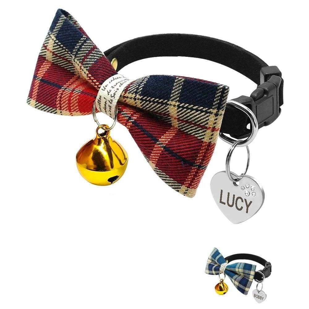 Personalised Dog Bowtie Collars - Dog Collar
