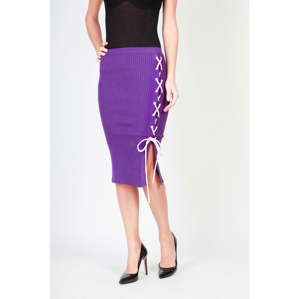 Pinko Black Knit Skirt - Violet / Xs - Clothing Skirts