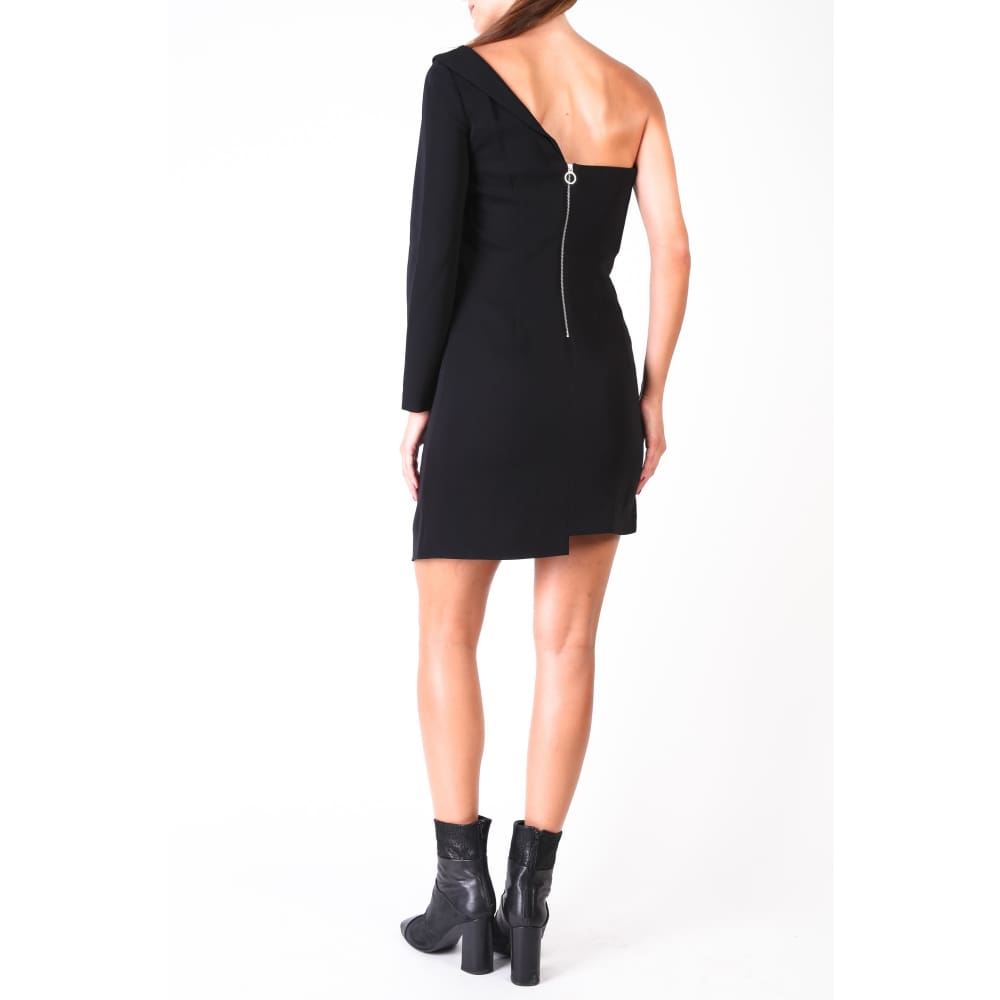 Pinko Black One Shoulder Dress - Clothing Dresses