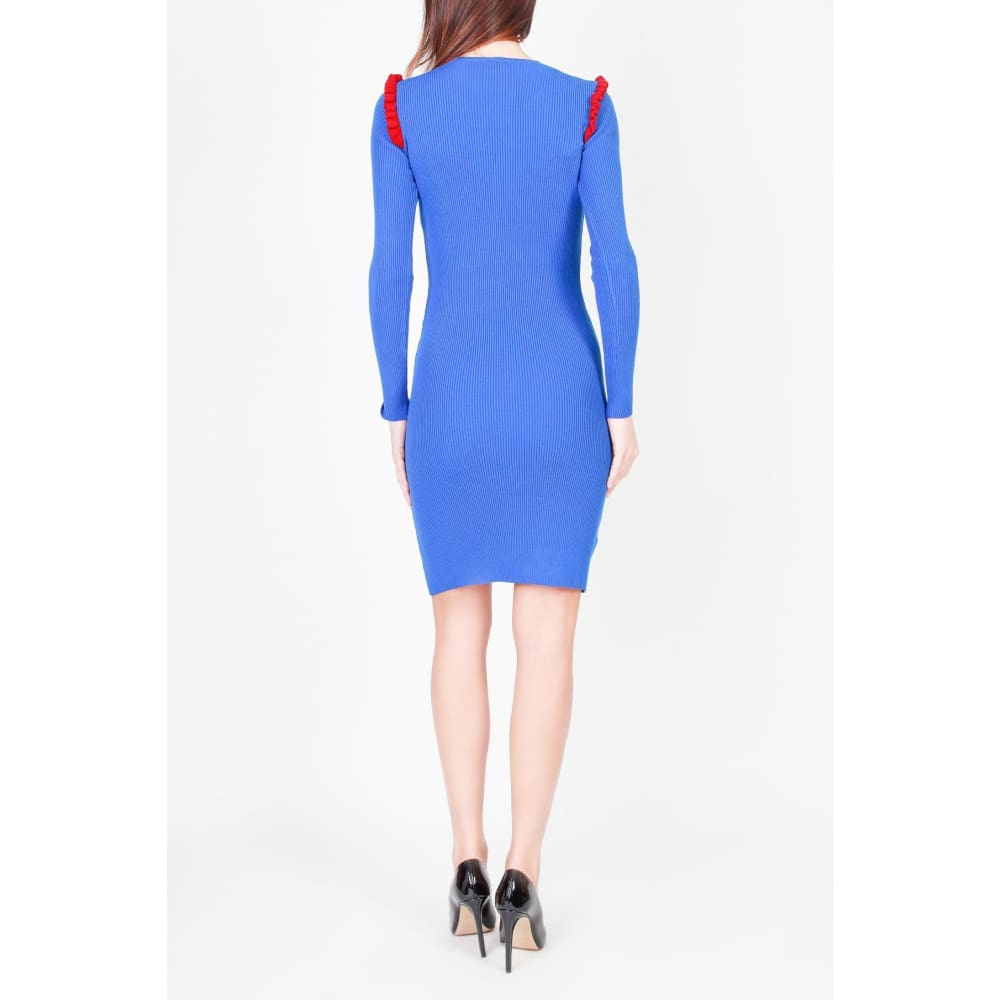 Pinko Blue Mini Dress - Clothing Dresses