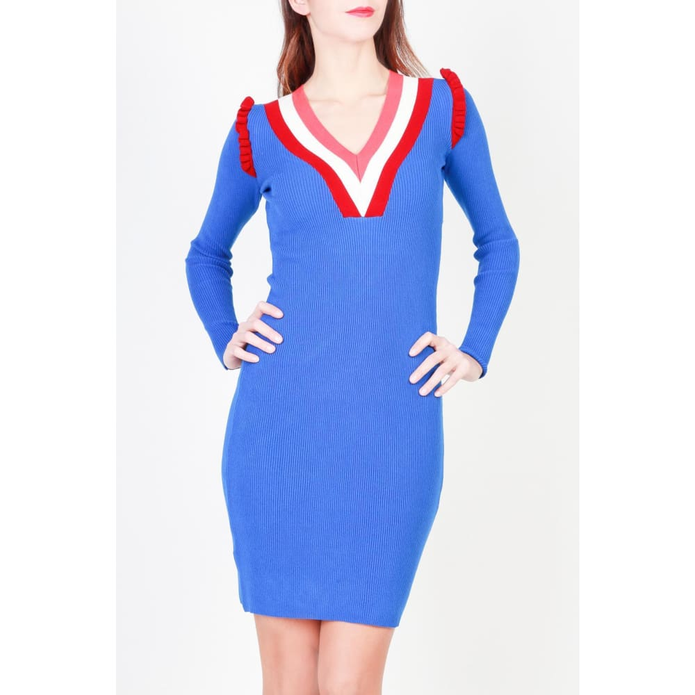 Pinko Blue Mini Dress - Blue / Xs - Clothing Dresses