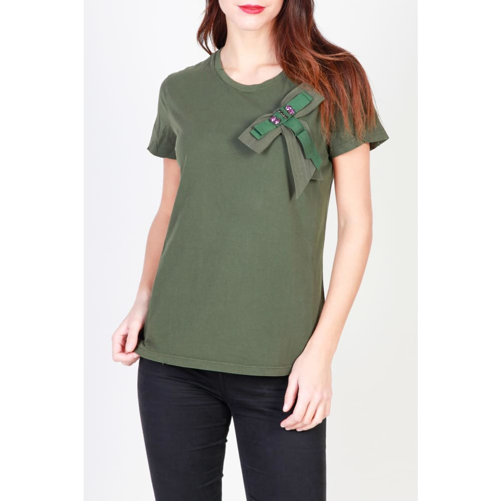 Pinko Bow T-Shirts - Clothing T-Shirts
