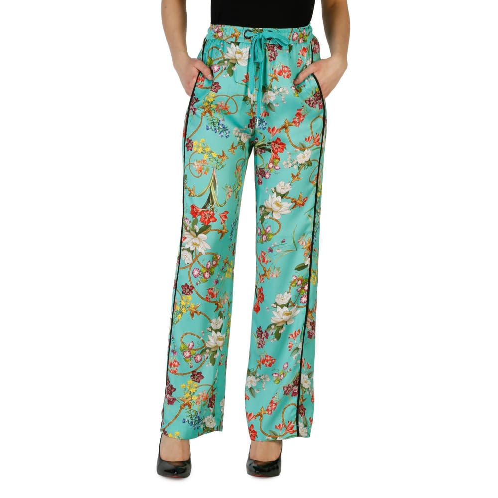 Pinko Flower Trousers - Green / 38 - Clothing Trousers