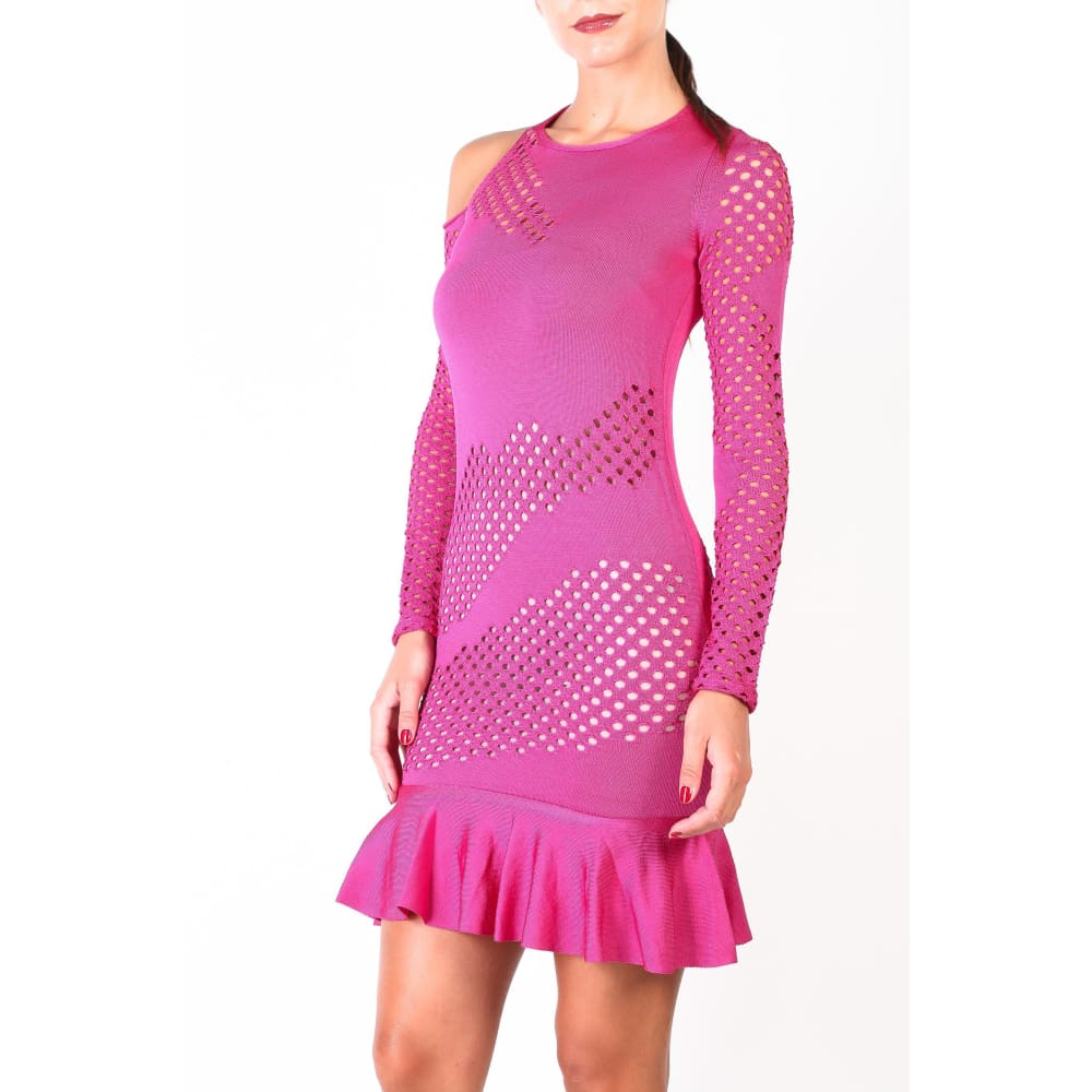Pinko Pink Knit Dress - Violet / Xs - Clothing Dresses