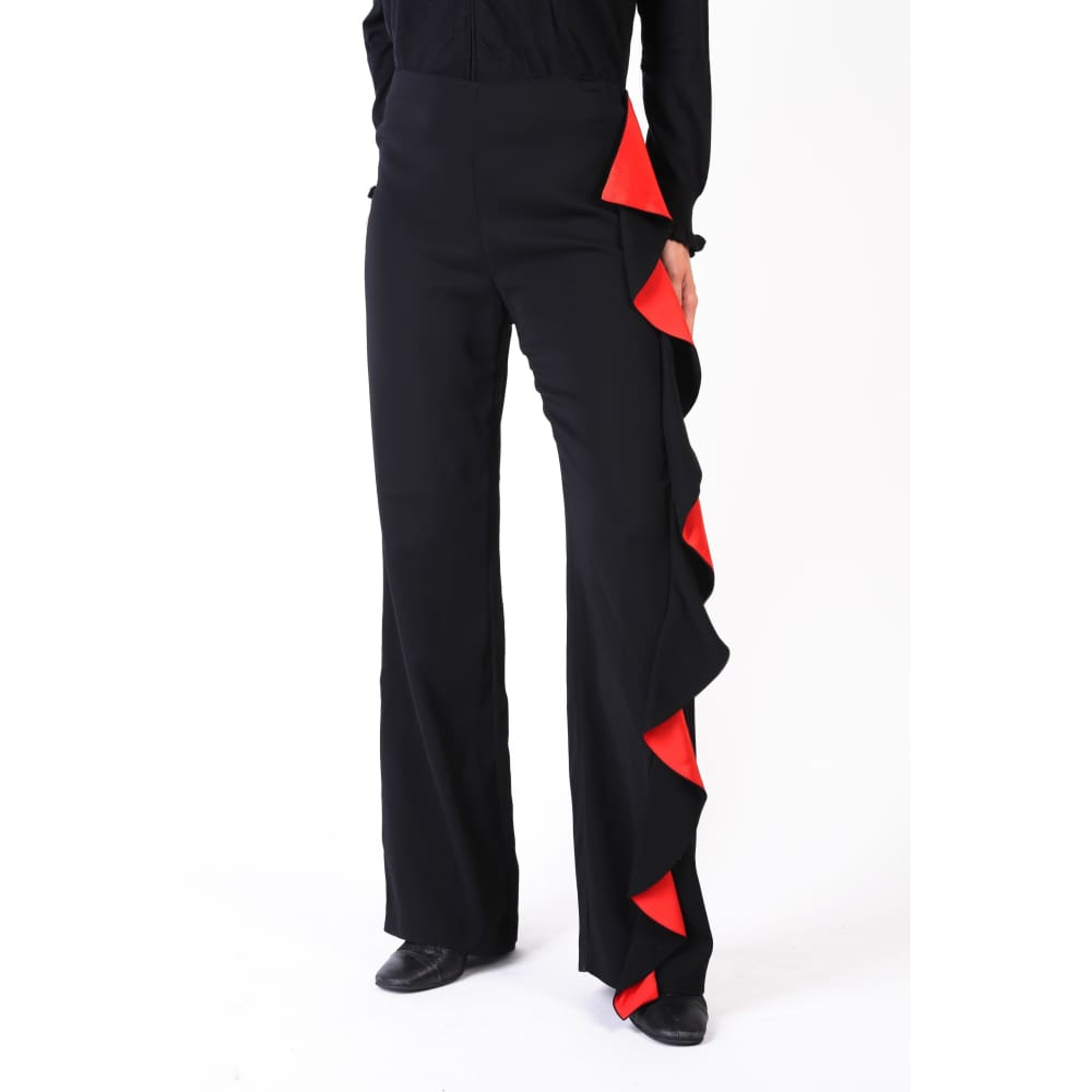Pinko Red Seam Trousers - Black / 38 - Clothing Trousers