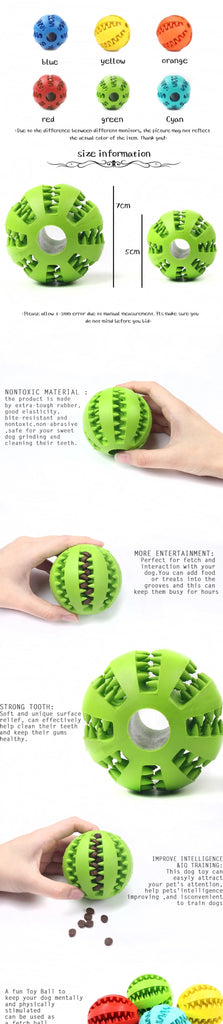 Chew ball Toy For Dog Tooth Cleaning, Dog teeth cleaning ball