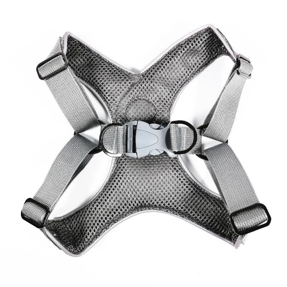 Grey French Bulldog No pull Harness - back view