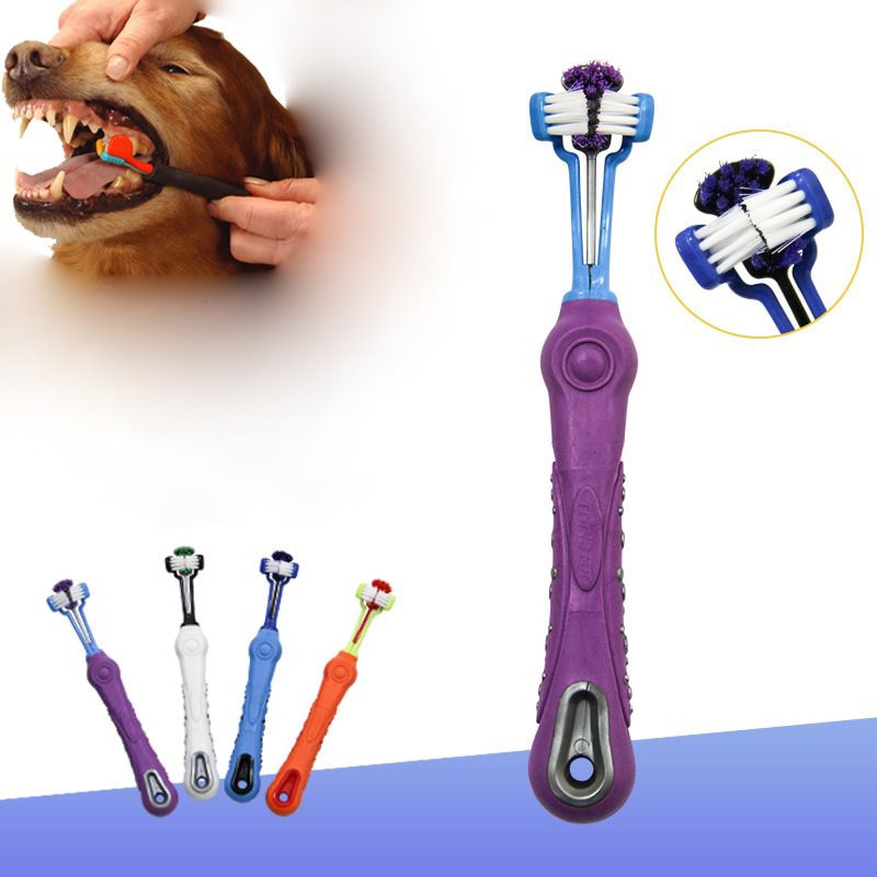 Dog Toothbrush, Multi-angle Tooth Cleaning Brush