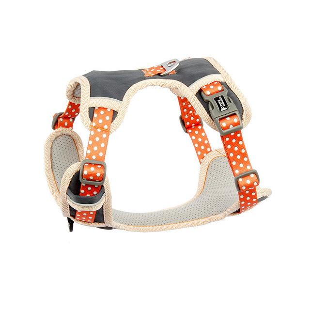 French Bulldog Nylon Harness - Orange Colour