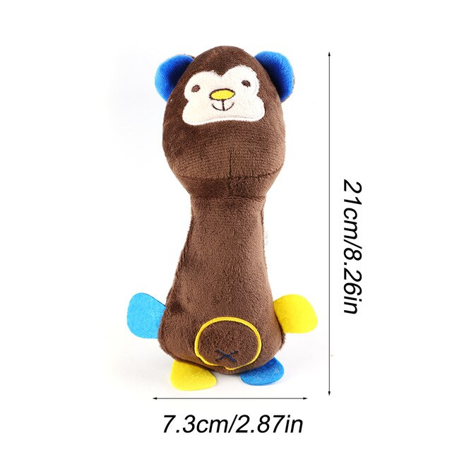 Selection of plush toys for dogs, bear shape