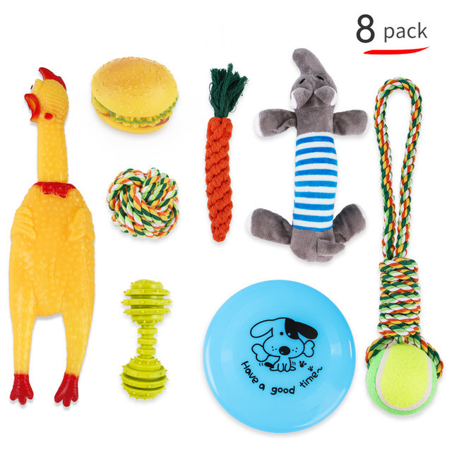 Puppy Starter Pack Selection Of Toys Gift Hamper - pack of 8