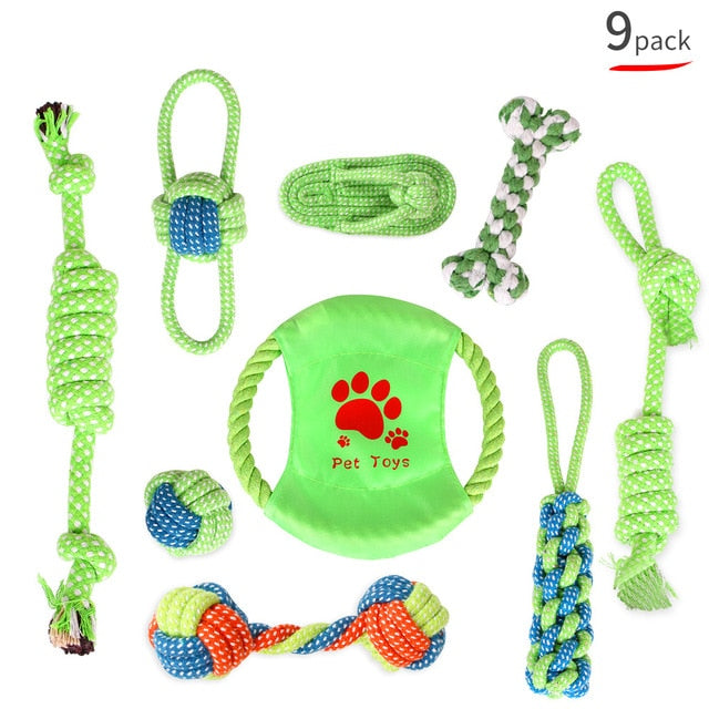 Puppy Starter Pack Selection Of Toys Gift Hamper - pack of 9