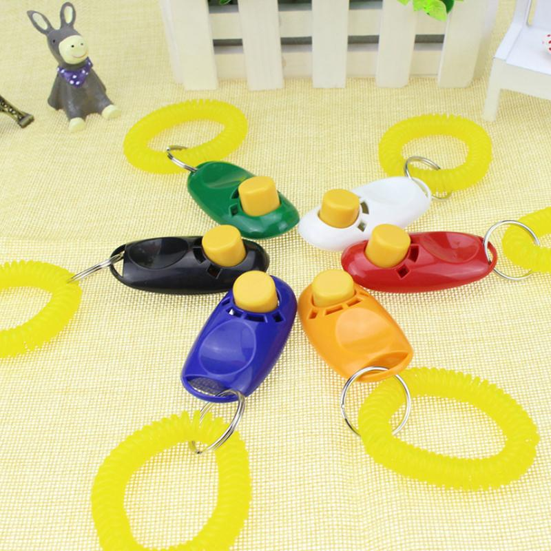 Blue, red, orange, white, black and green colour Dog training clicker, clickers for dog training