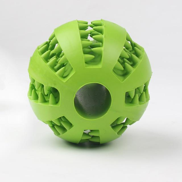 Green chew dog ball toy
