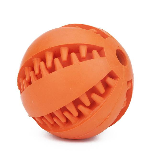 Orange chew dog ball toy