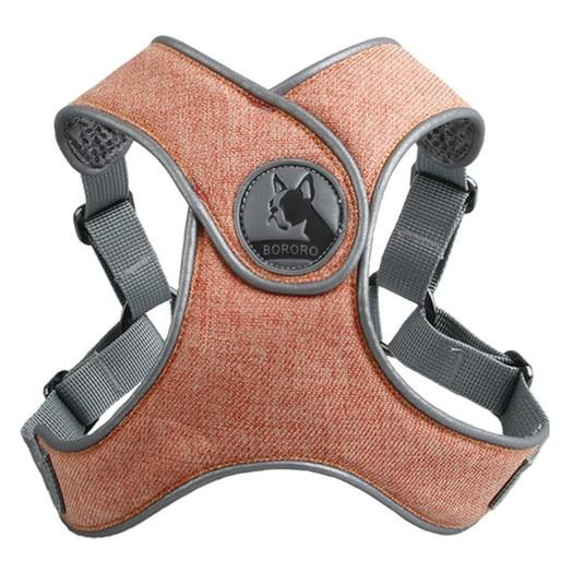 Orange French Bulldog No pull Harness