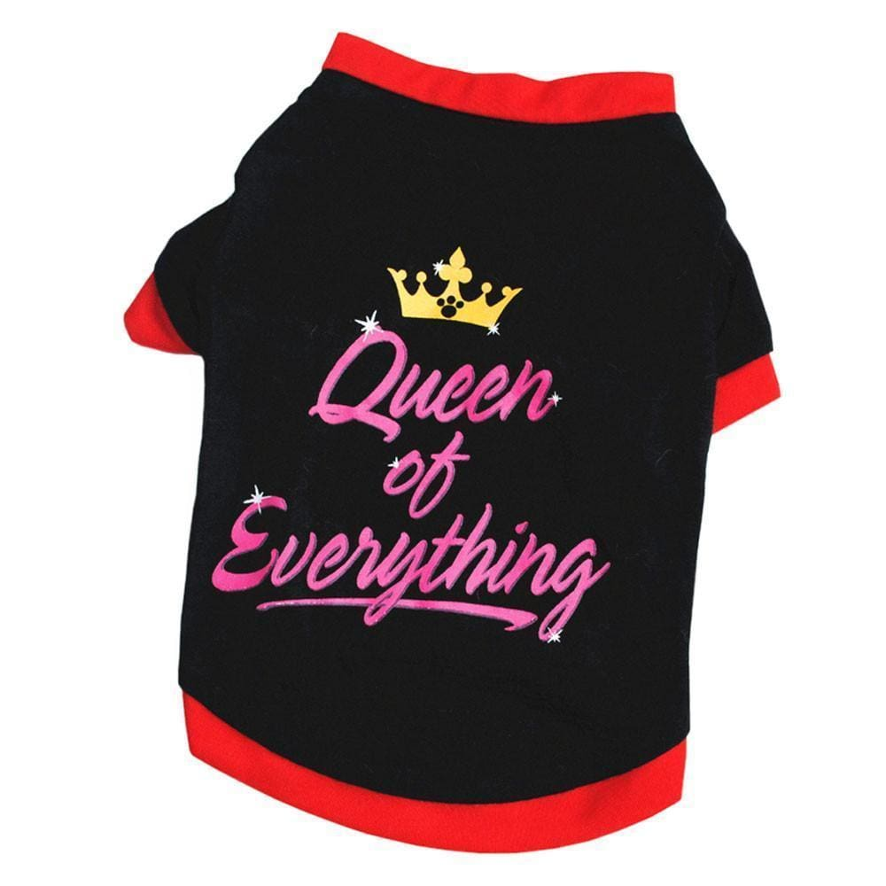 Queen Of Everything Dog Tshirt - Dog Clothes