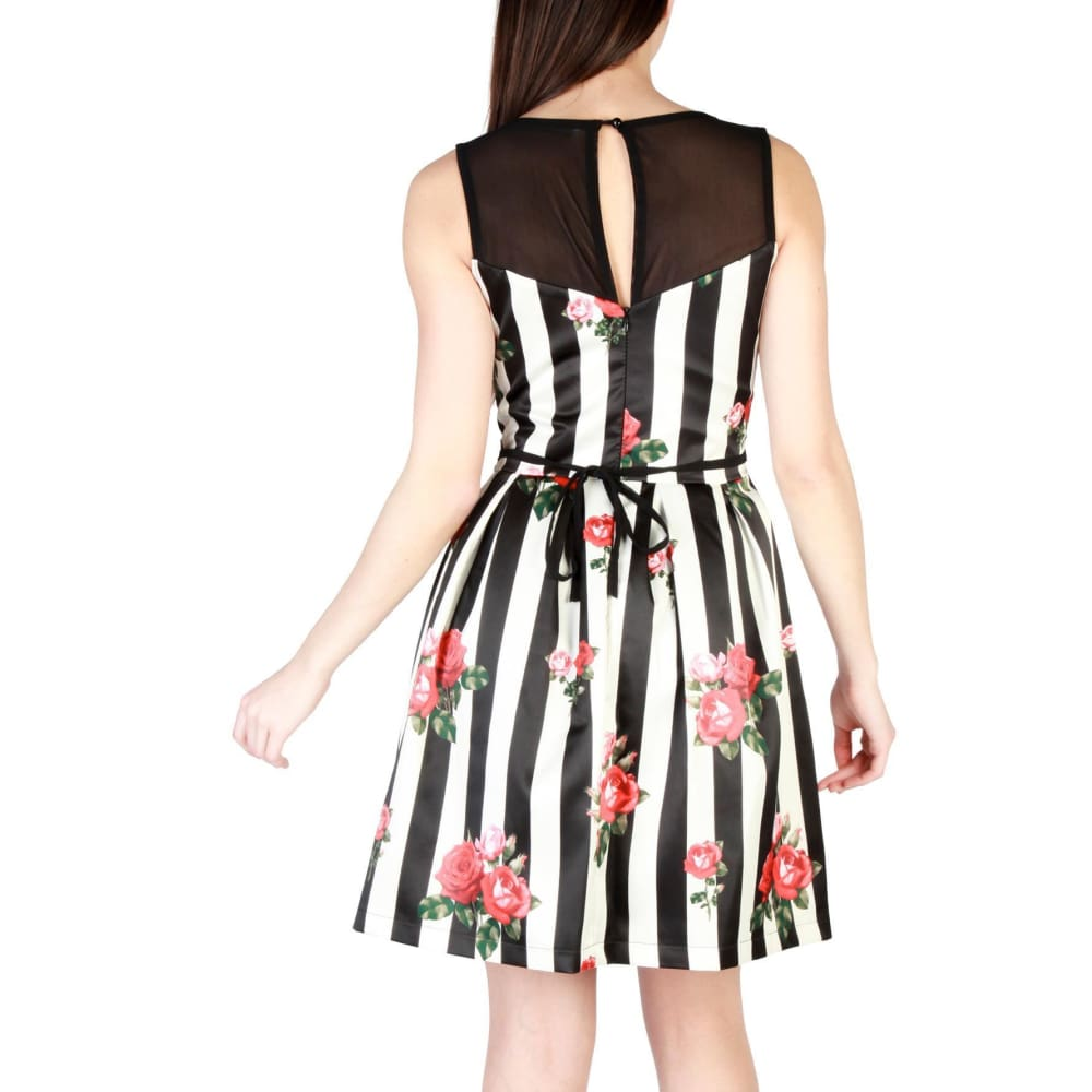 Rinascimento Red Rose Stripe Dress - Clothing Dresses