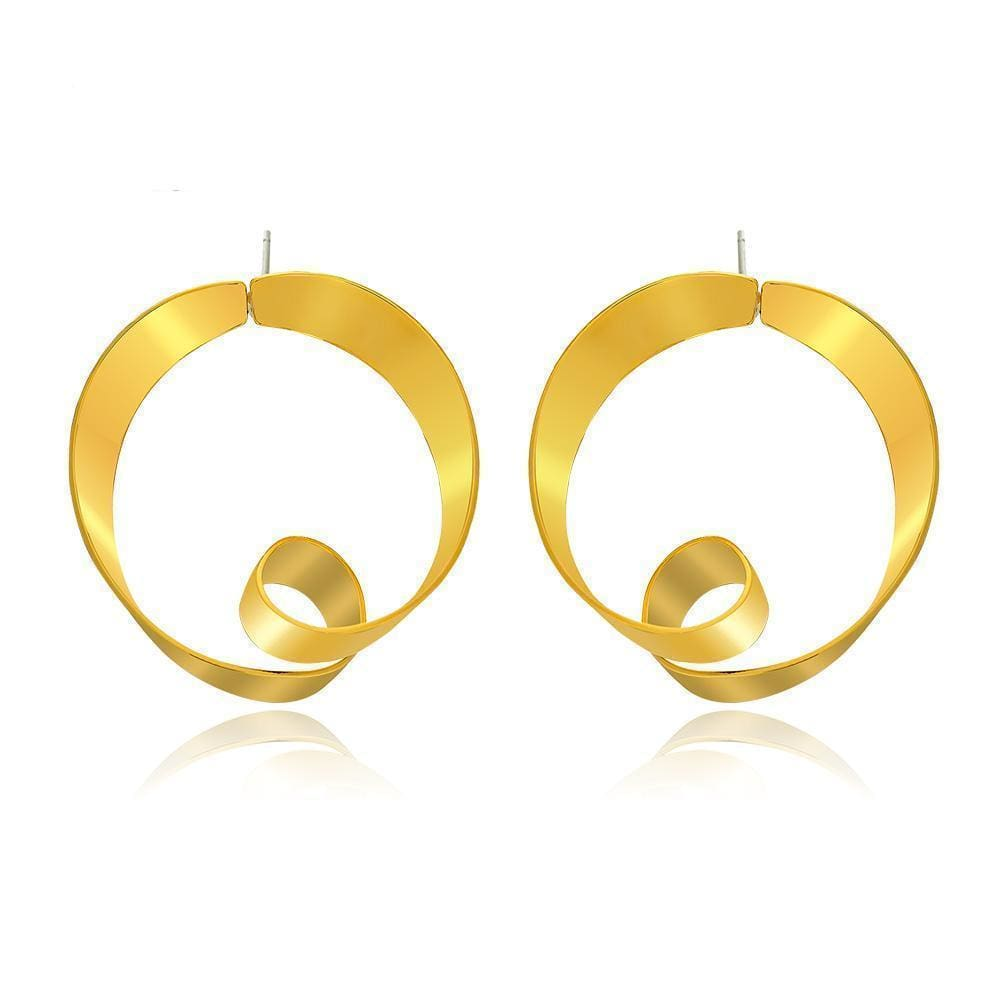 Royas Elegant Twisted Circle Dangle Earrings - Earrings