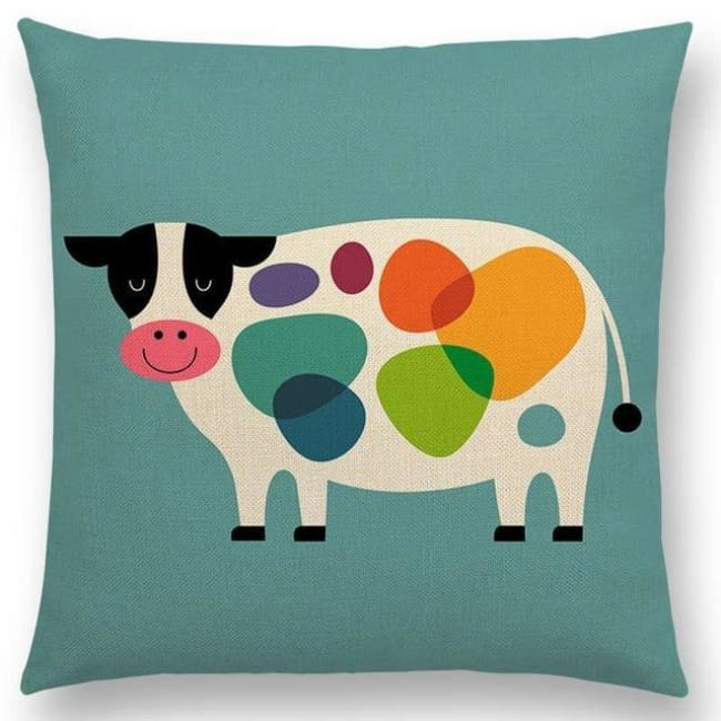 Scandi Retro Cushion Covers - A001307 / 45X45Cm No Filling - Home