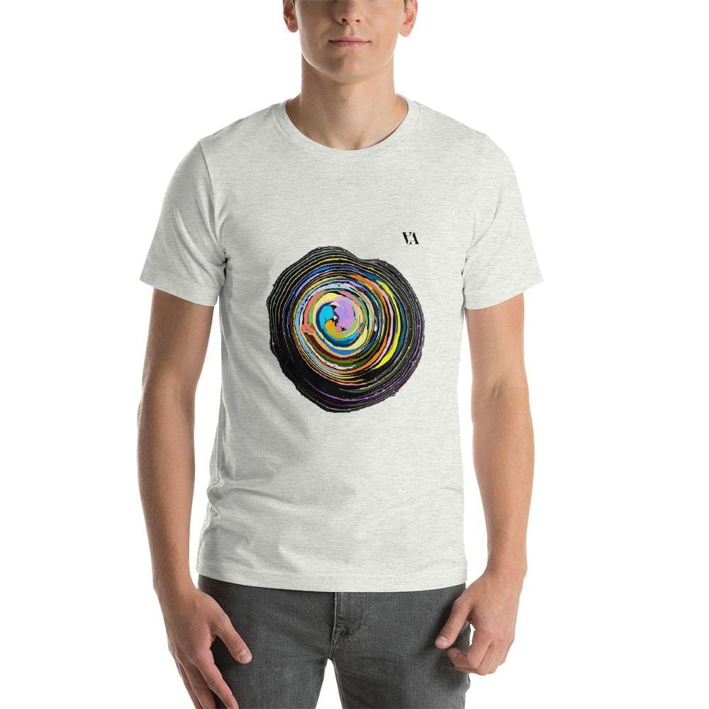 Shock Wave Short-Sleeve Mens T-Shirt - Ash / S - Tshirt