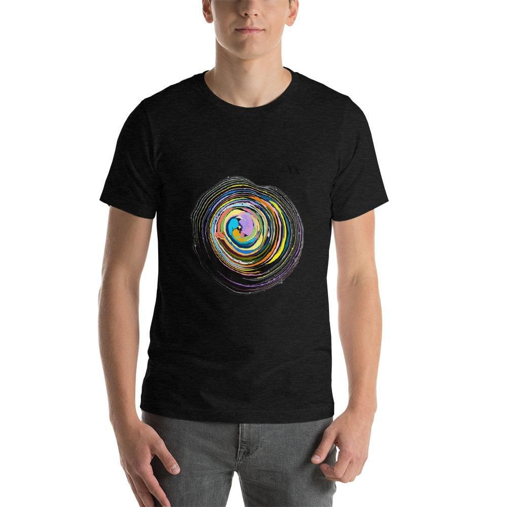 Shock Wave Short-Sleeve Mens T-Shirt - Black Heather / S - Tshirt