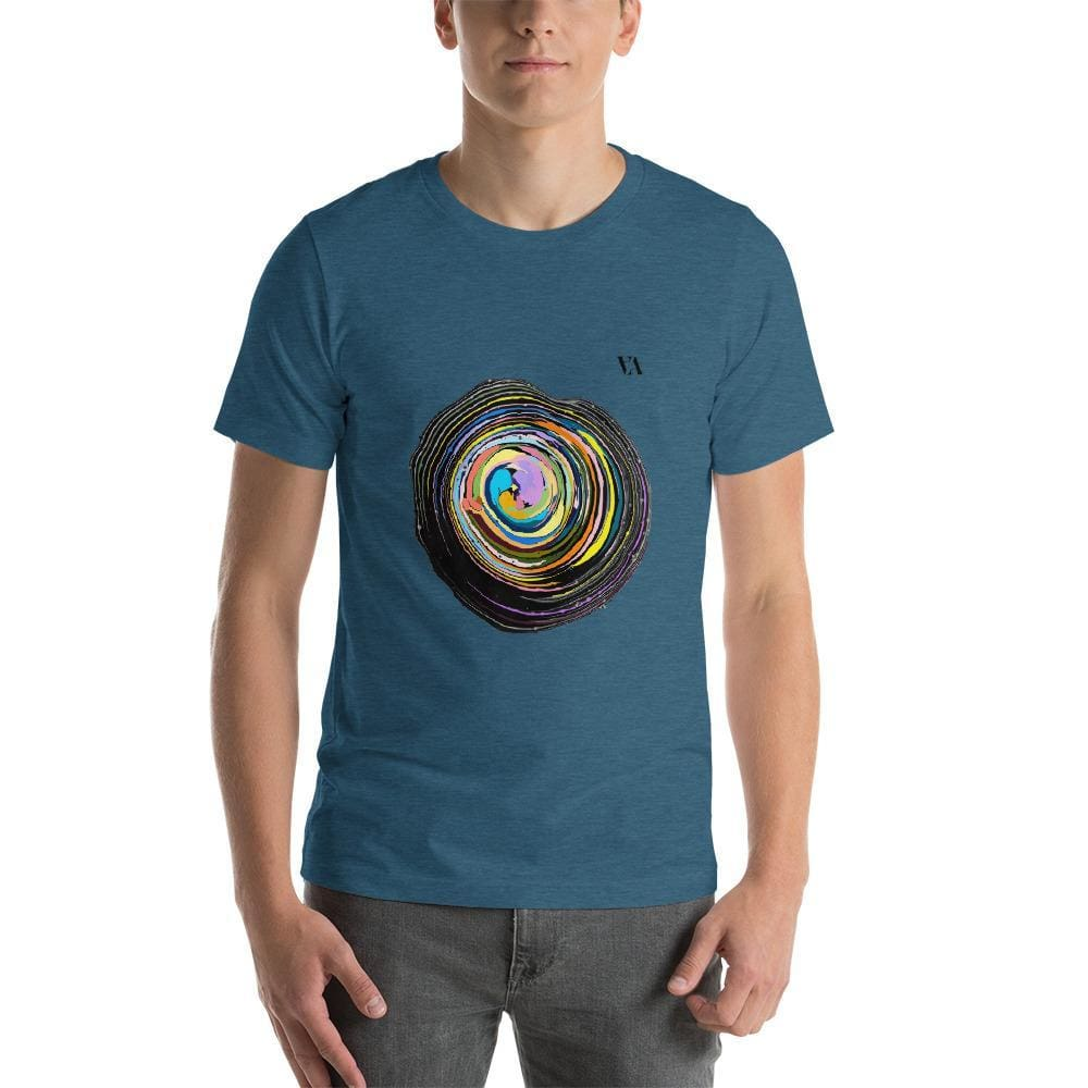 Shock Wave Short-Sleeve Mens T-Shirt - Heather Deep Teal / S - Tshirt