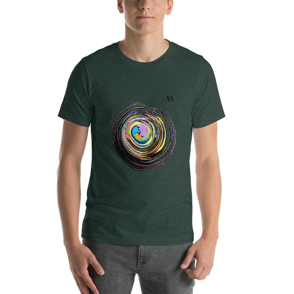 Shock Wave Short-Sleeve Mens T-Shirt - Heather Forest / S - Tshirt