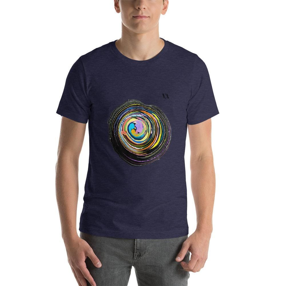 Shock Wave Short-Sleeve Mens T-Shirt - Heather Midnight Navy / S - Tshirt