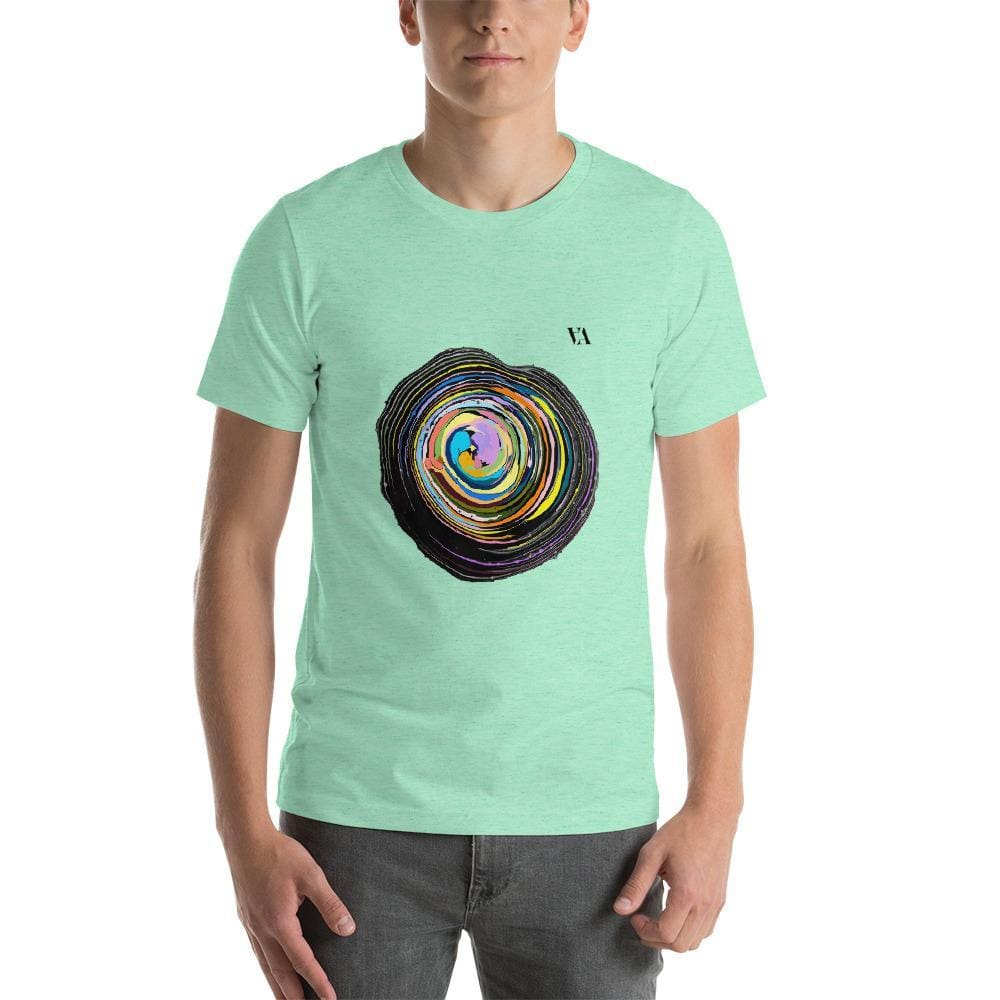 Shock Wave Short-Sleeve Mens T-Shirt - Heather Mint / S - Tshirt